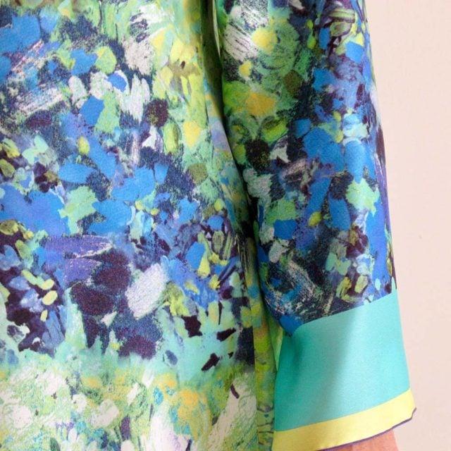 Art. 6758 - Camicia in misto seta colorata