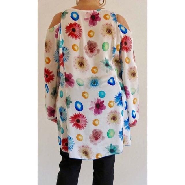 Art. 6914 - Casacca floreale con motivo sulle spalle